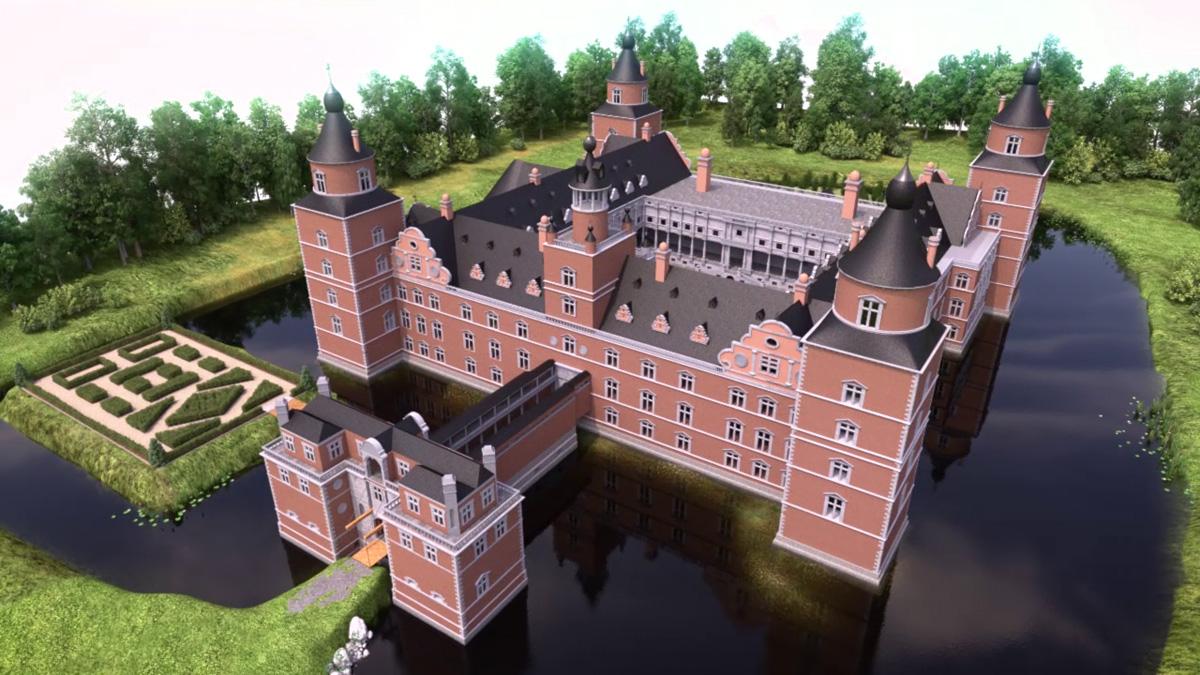 Reconstitution du château de Boussu (16e siècle)